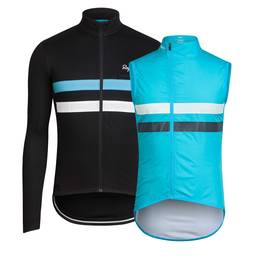Team Sky Long Sleeve Brevet Jersey and Gilet Bundle