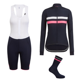 Women's Brevet Windblock Jersey, Bib Shorts and Socks Bundle