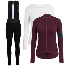 Souplesse Thermal Jersey, Long Sleeve Base Layer and Thermal Winter Tights Bundle