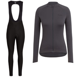 Women's Long Sleeve Core Jersey & Core Winter Tights With Pad Bundle