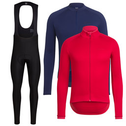 Long Sleeve Core Jersey & Winter Jacket & Winter Tights With Pad Bundle
