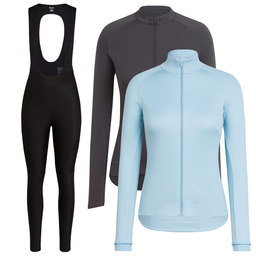 Women's Core Long Sleeve Jersey & Winter Jacket & Winter Tights With Pad Bundle