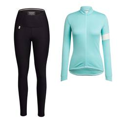 Women's Classic Long Sleeve Jersey & Padded Tights Bundle
